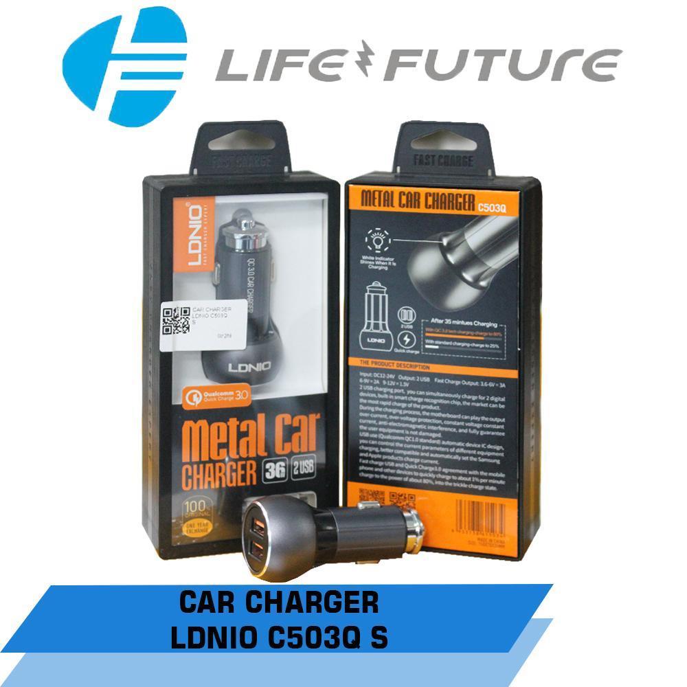 Ldnio Dl C29 34a Car Charger Dual Usb Support Gratis Holder Mobil C502idr101600 Rp 101700