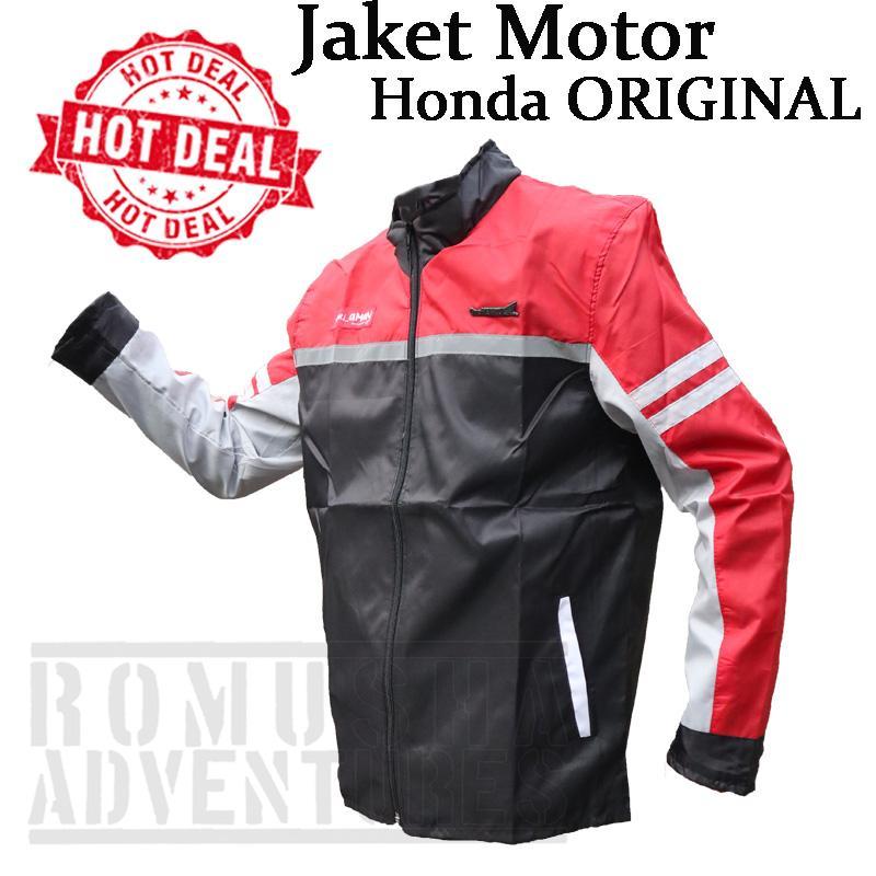 Romusha Jaket Motor Honda Ori AHM Bahan Parasut Motor Jacket Safety Riding 2afcf7a6ff
