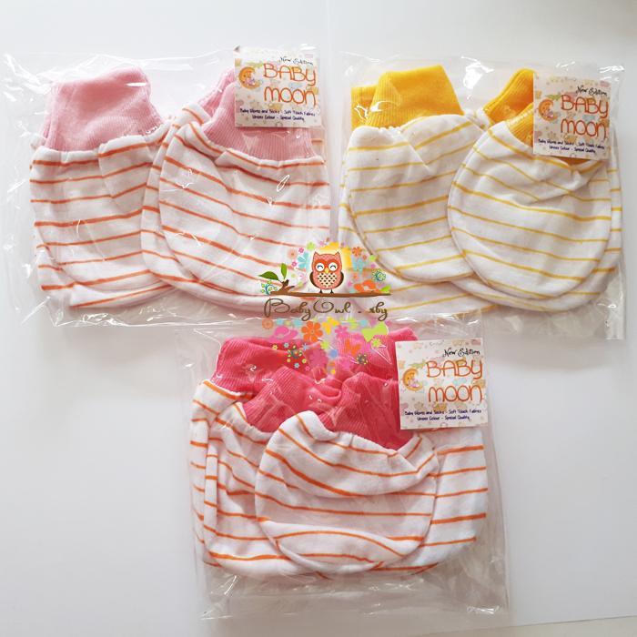 3set sarung tangan dan kaos kaki bayi 3warna