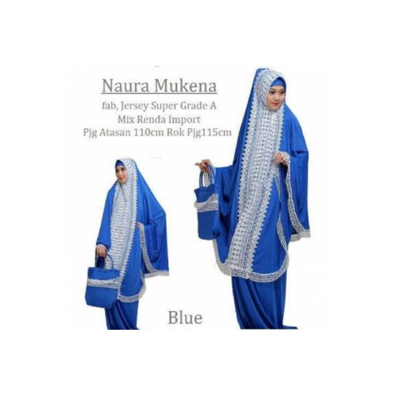 NAURA MUKENA TAS RENDA BLUE (AV COLLECTION)