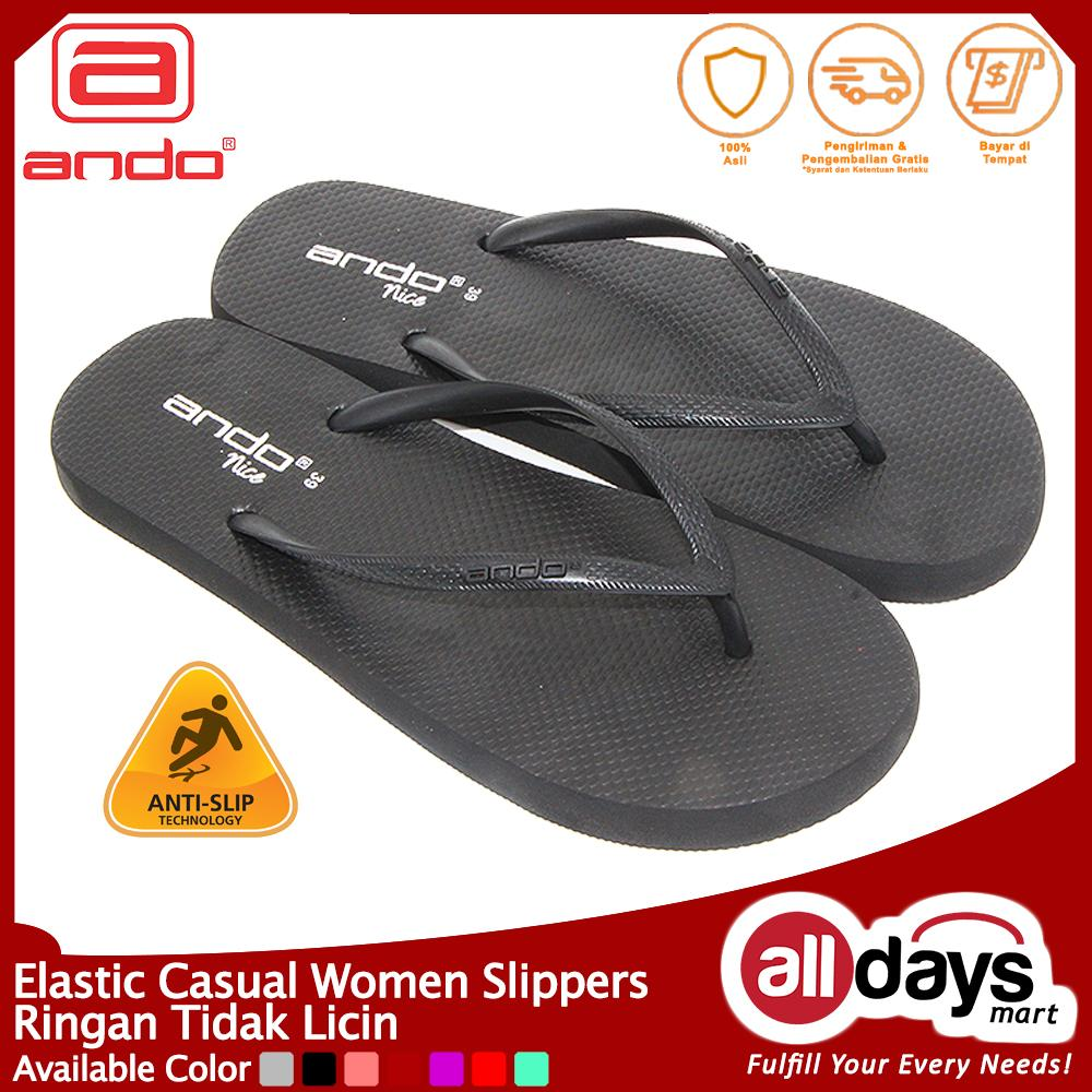 Ando Sandal Jepit Nice Ladies - Black