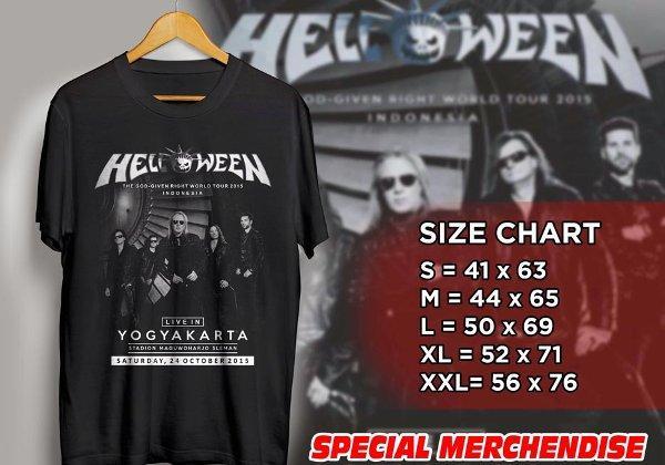 Kaos Helloween Konser Live In Yogyakarta - Indonesia 2015 (band hello