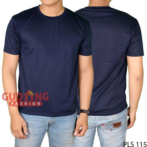 Baju Kaos Polos TC Cotton - Warna Navy Biru Dongker - Pria Wanita Unisex QDS