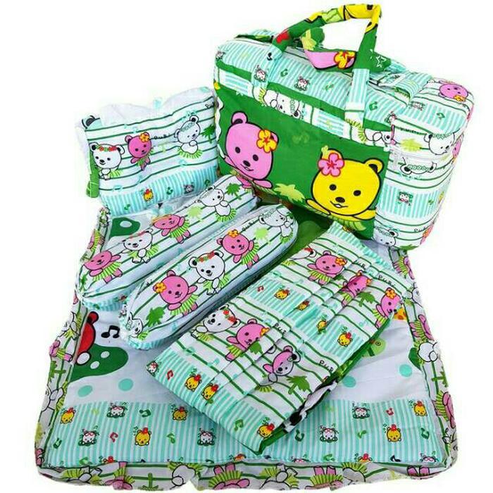PROMO DISKON (Bisa cod) Tas Gendongan Bantal Guling Alas Tidur 4 in 1 Chekiddo - Merah Sedia juga tas perlengkapan bayi/tas ransel untuk perlengkapan bayi/tas perlengkapan baby/tas untuk perlengkapan bayi