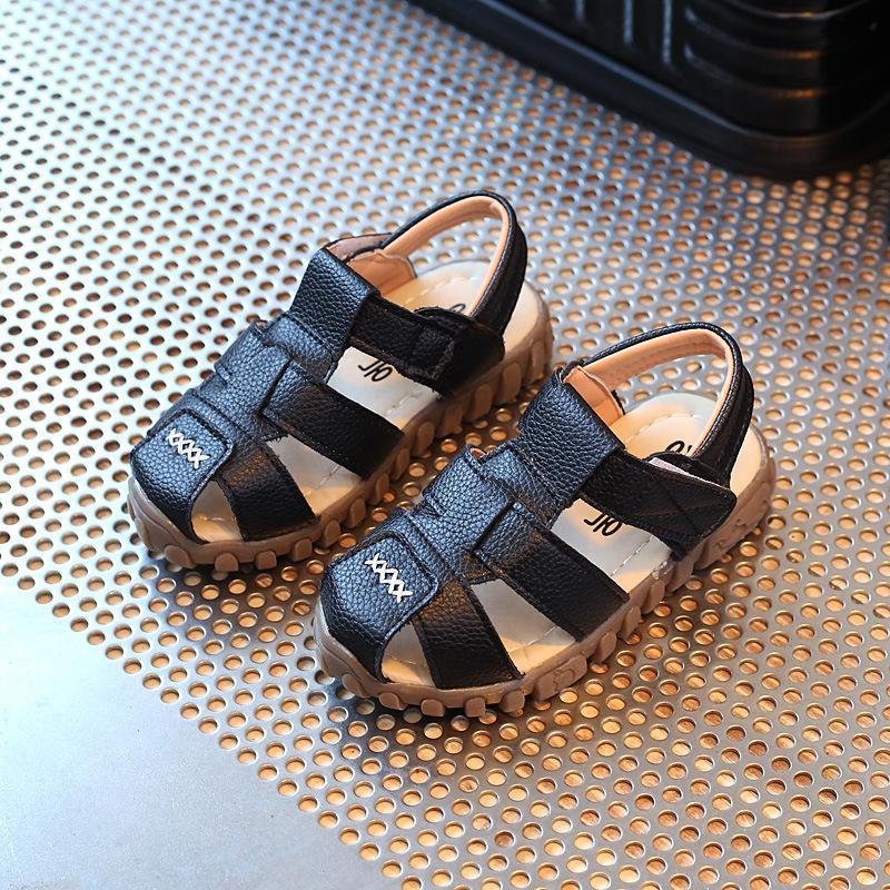 Anak Laki-laki Sandal Summer 2018 Model Baru Versi Korea Musim Panas Petpet 1-
