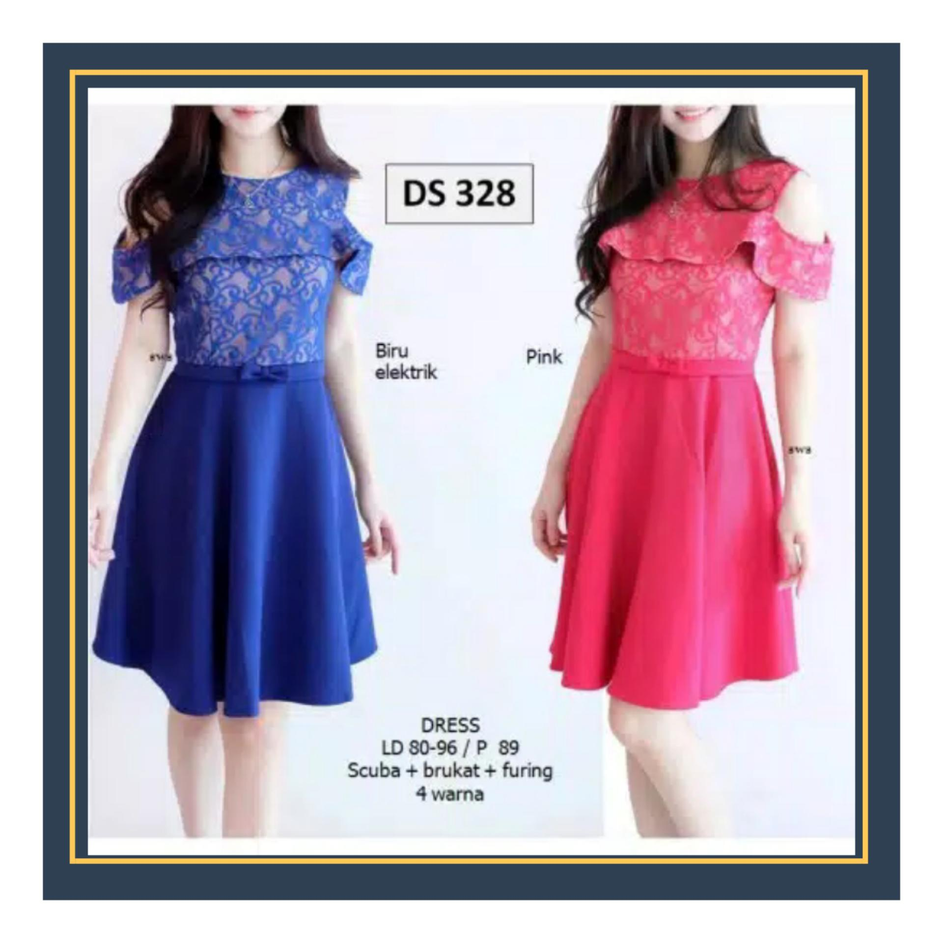 Baju wanita   mini dress   gaun pesta   dress brukat   Dress import 7876- 44d6fb25bf