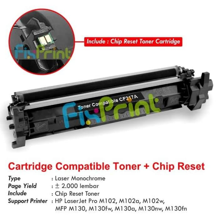 SALE - Cartridge Toner Compatible HP CF217A 17A, Printer HP LaserJet Pro M102 Original