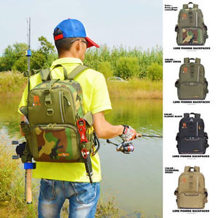 Sedang Diskon!! Alat Pancing   \T\Tmulti-Function Outdoor Backpack Fishing Tackle Bag La - ready st