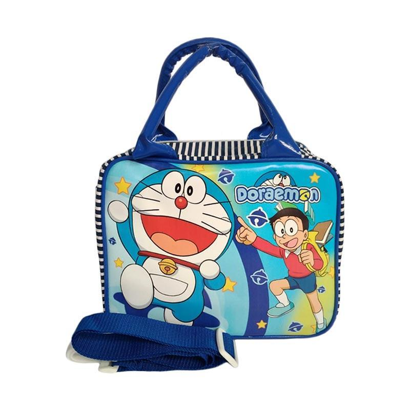 [0930040057] Doraemon Tas Travel Kecil Anak - Blue
