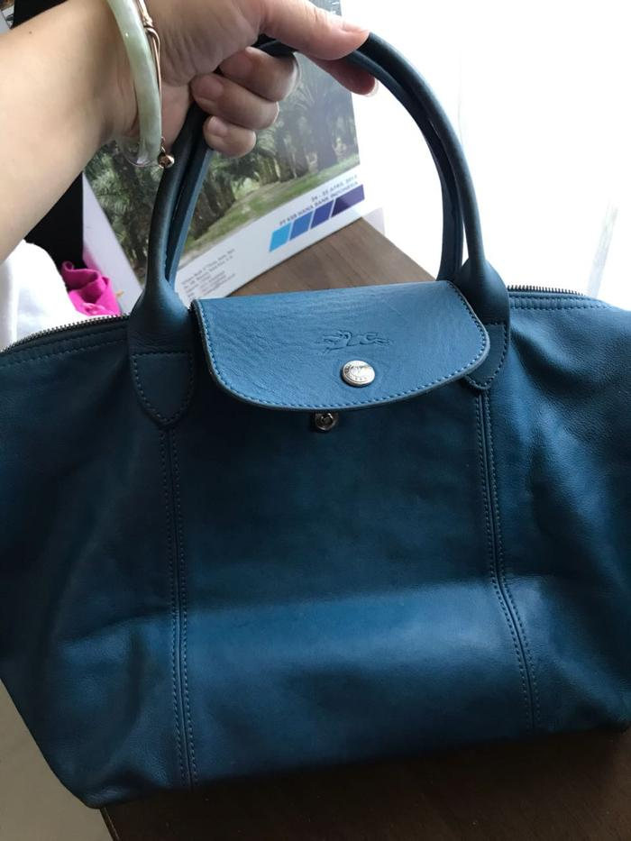HOT SPESIAL!!! Longchamp cuir blue electric second - AUnEP4