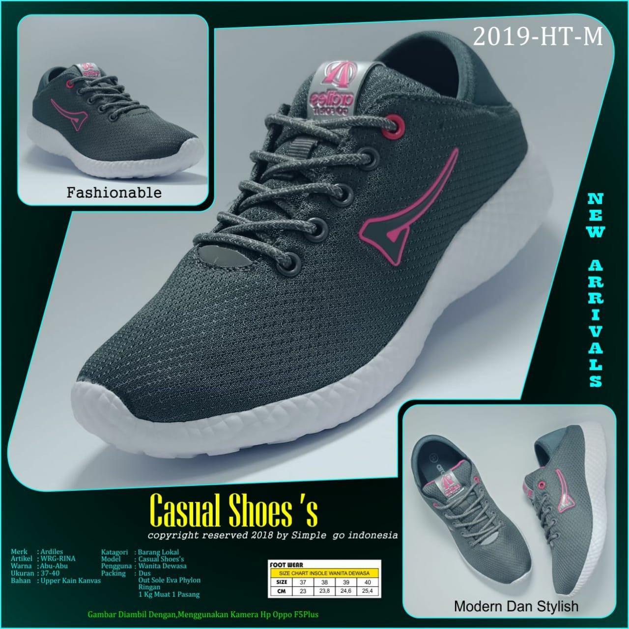 Sepatu Ardiles Archives Men Edogawa Running Hitam 39 Sport Wanita Trina 37 40