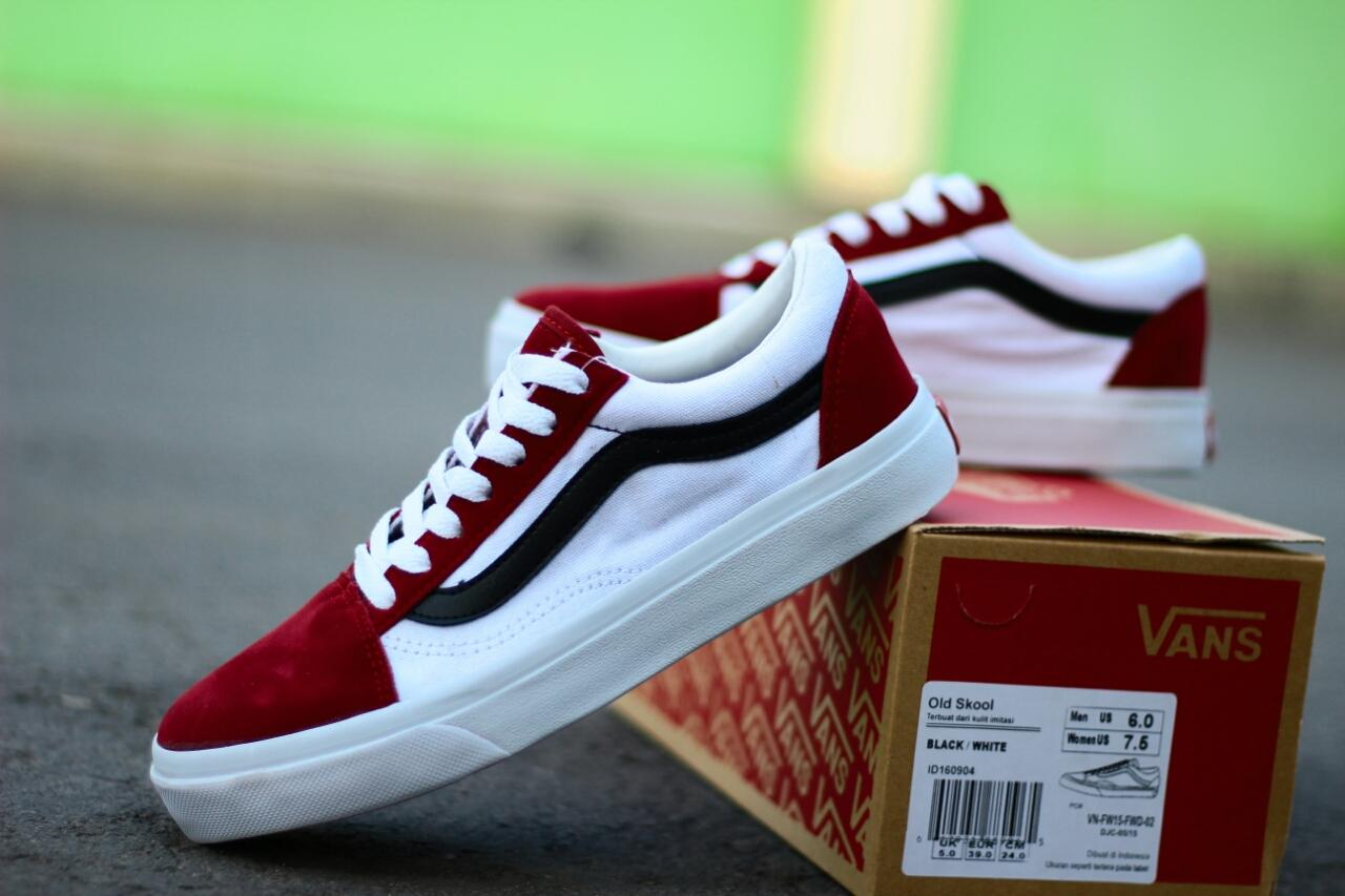 Sepatu Casual Skate Vans OldSkool Classic   CheckerBoard   Sneakers    Sekolah   Sepatu Pria 15dcfa9c25