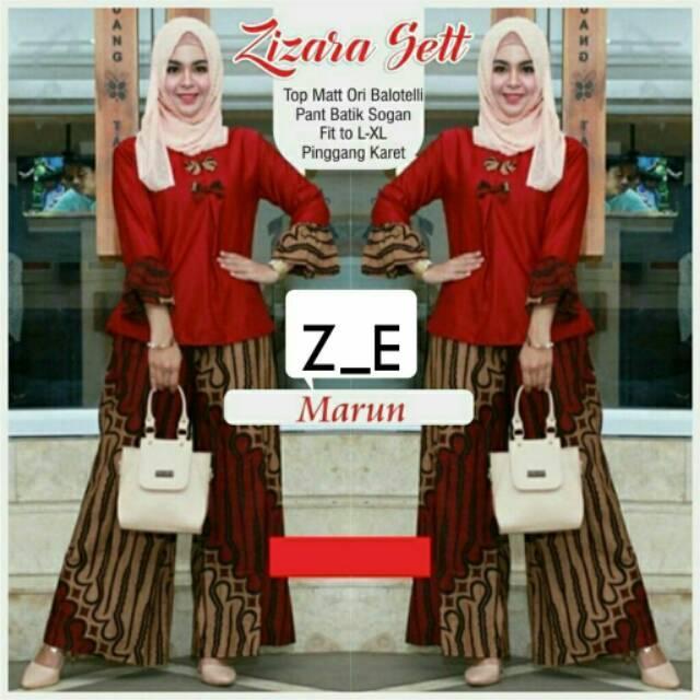 TERMURAH - Setelan Batik Wanita - Stelan Muslim Murah - Stelan Kulot Muslim  - Baju Batik 4a58809f5f
