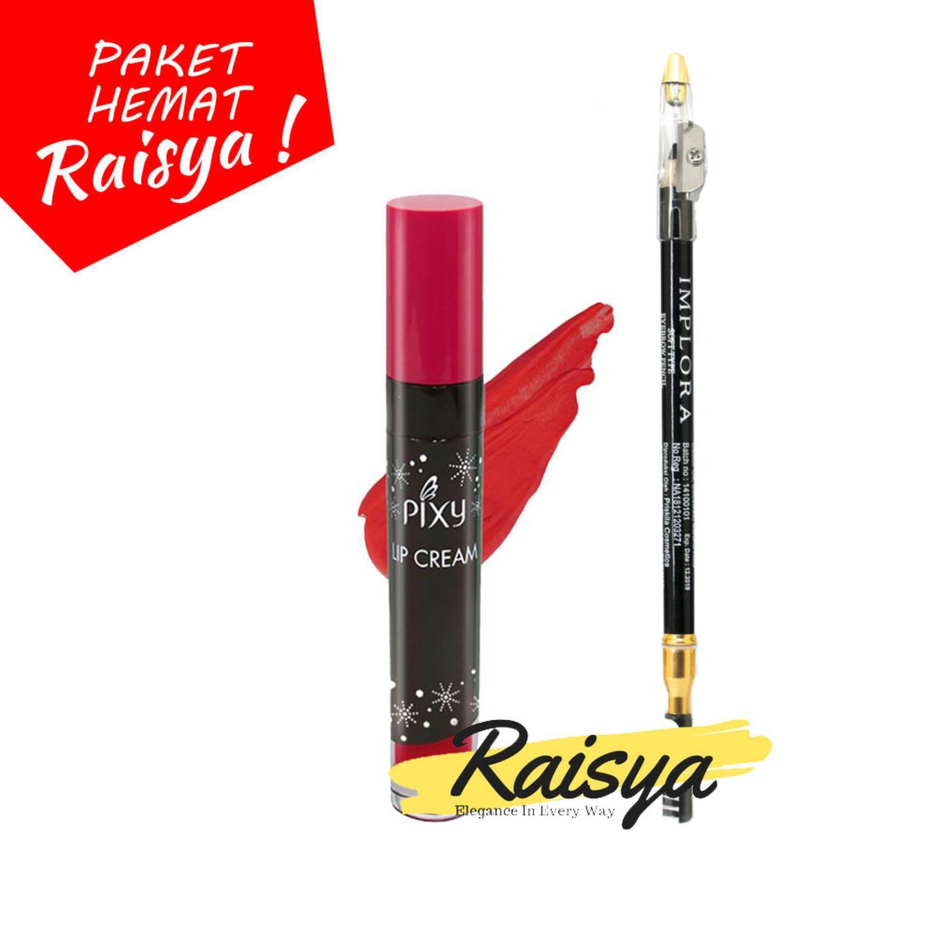 Pixy Lip Cream No. 02 Party Red Free Implora Pensil Alis Hitam Resmi BPOM