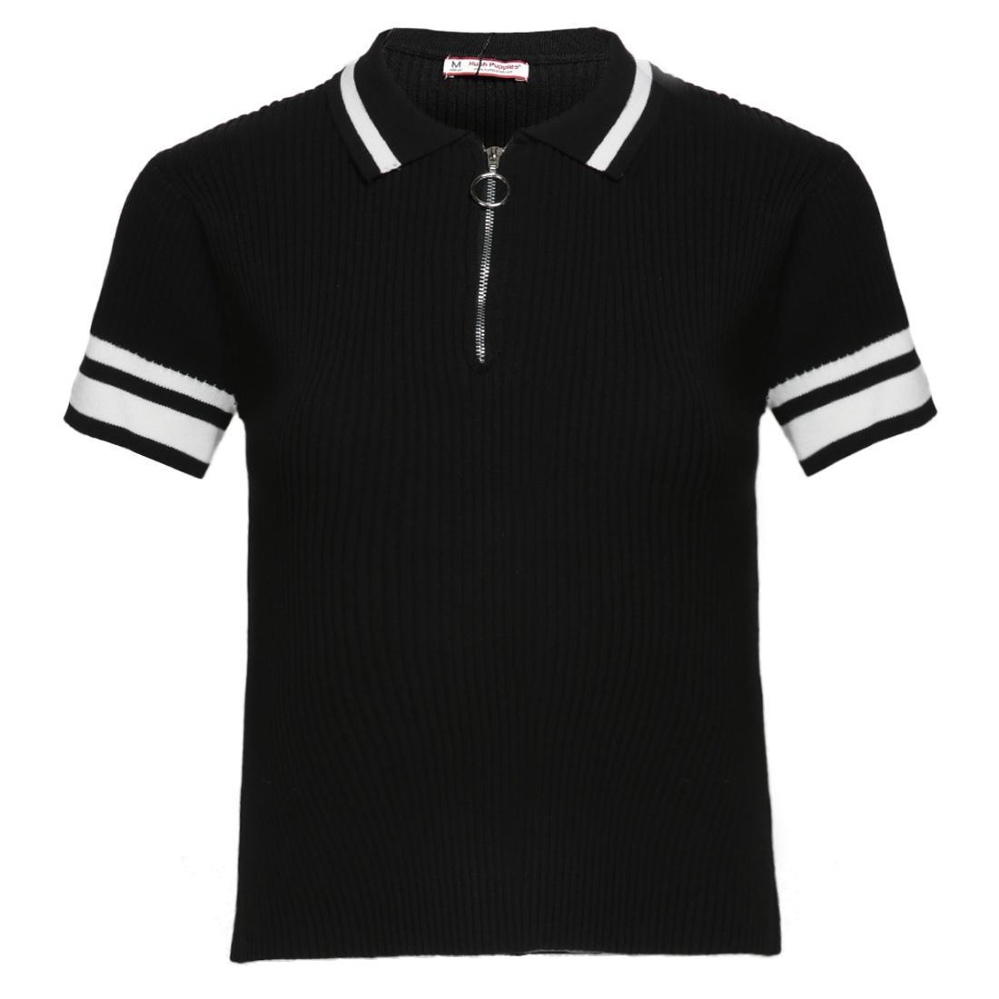 Hush Puppies Baju Atasan Wanita Ezra - Polo Shirt  Black