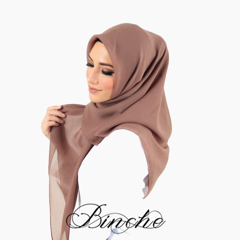 Binche Square Hijab Sahira Square Choco
