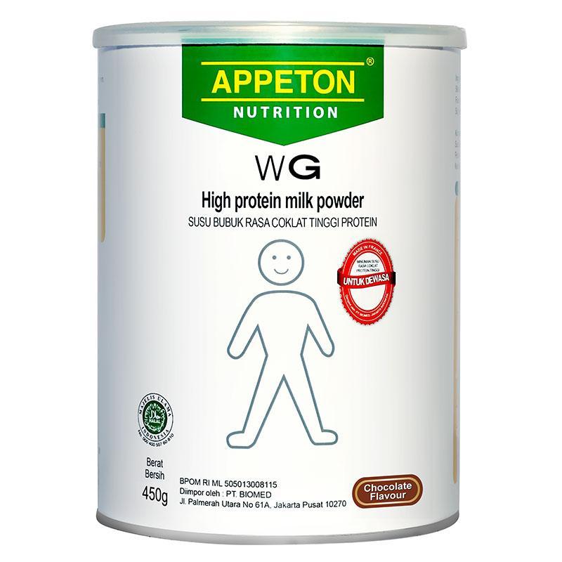 Susu Appeton Weight Gain Susu rasa Coklat Dewasa - 450Gram Adults Coklat Susu Penggemuk Badan