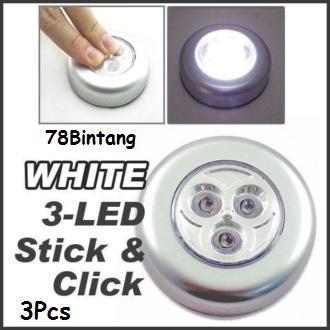 Pencarian Termurah 78Bintang 3Pcs Lampu Sentuh - Stick N Click Lamp - 3 Mata LED - Stick Touch Lamp - Lampu Tempel Emergency - Lampu Darurat sale - Hanya ...