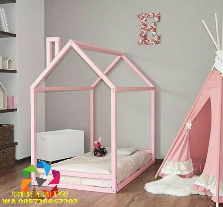 Ranjang anak wanita Tempat tidur anak. PESONA JEPARA 24