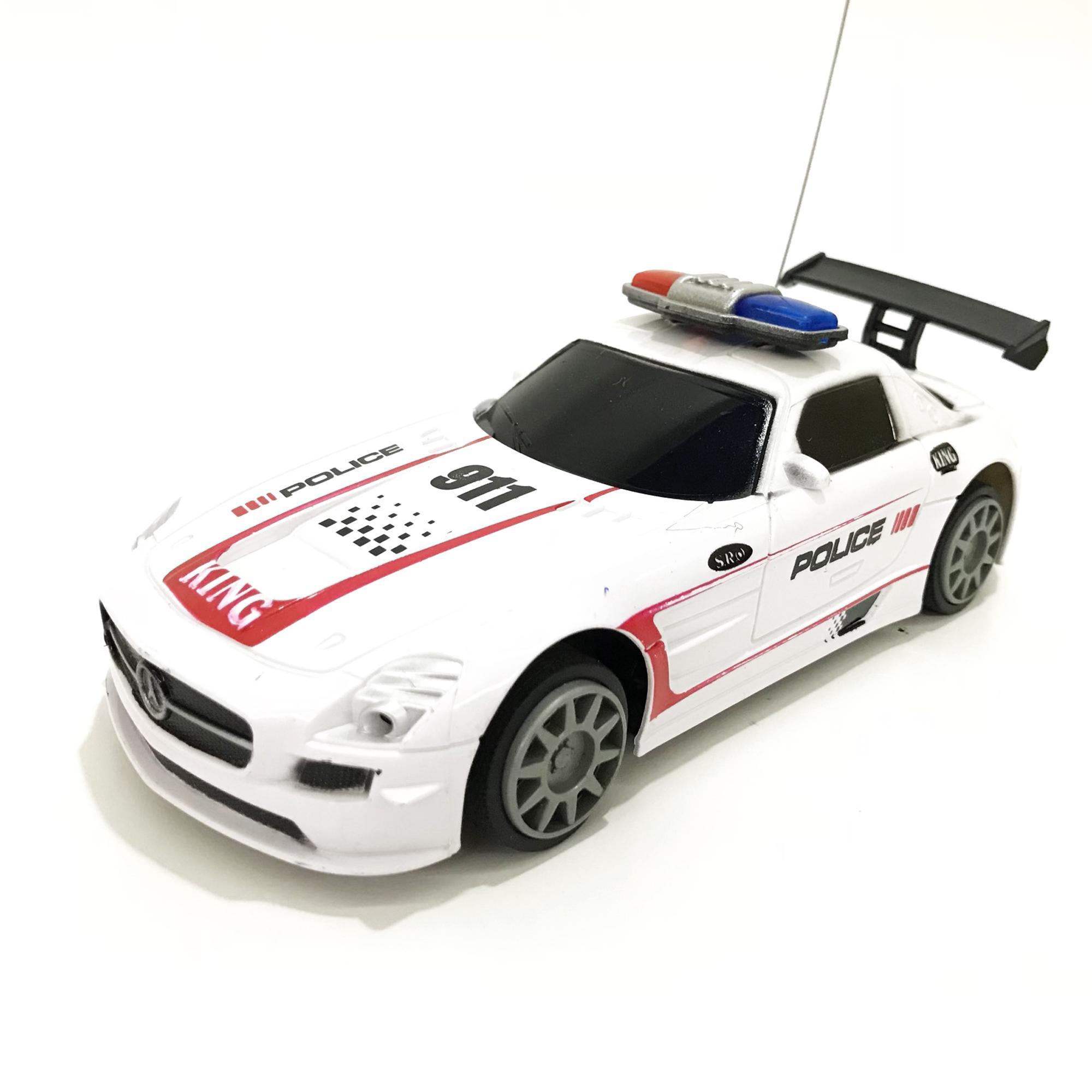 (FREE PACKING KERTAS KADO) RKJ Mainan Anak RC Mobil Remot Racing King Car  Police c9b0d0d133