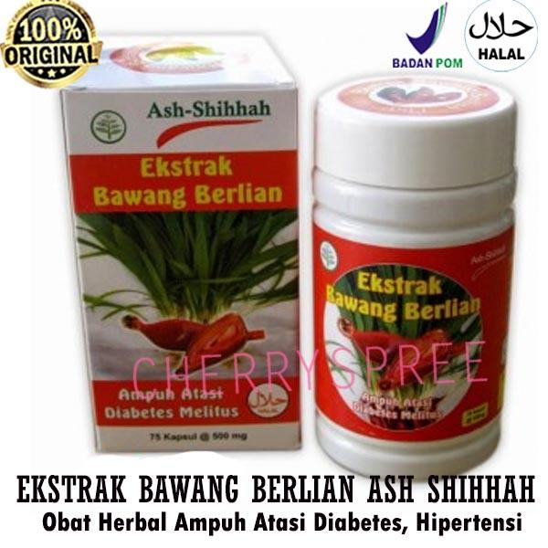 Ash Shihhah Ekstrak Bawang Berlian Dayak Obat Herbal Atasi Diabetes Gula Hipertensi Bahan Aman Natural BPOM - Isi 60 kapsul