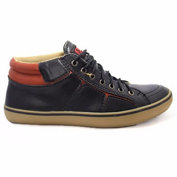 Sepatu Sneaker PRIA  Casual - Sepatu Skate BM ARL -  geox sepatu KETS KULIT COWOK GAUL BLACK MASTER ORIGINAL Calvien Sepatu Pria Sneakers/Sepatu Pria Kets/Sepatu Olah Raga/Sepatu Kasual Kode CL-03 Bahan: KULIT  Berkualitas Sol: Pilon (Ringan dan elast