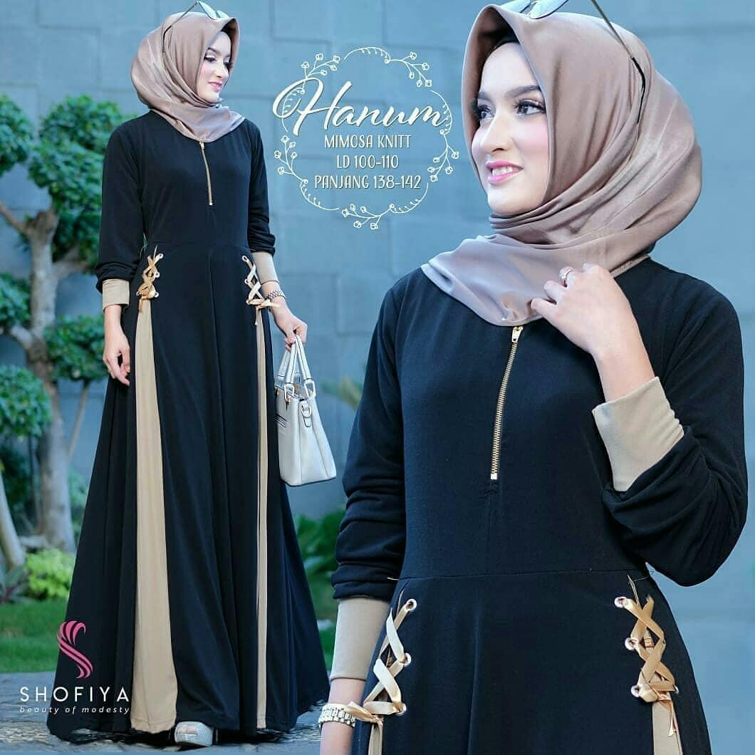 Original Baju Muslim Hanum Dress Wolfice Baju Supplier Gamis Muslim Panjang  Maxy Kekinian Grosir Pakaian Wanita 3e2efaaa47