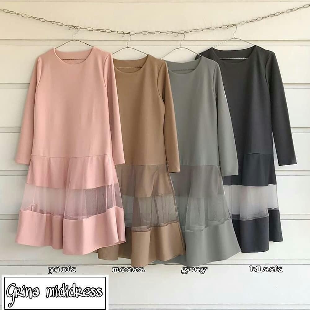 MC Grina Midi Tunik Wolfice Atasan Baju Muslim Original Pakaian Wanita  Hijab Terbaru Fashion Cewek Trendy d4885026d5