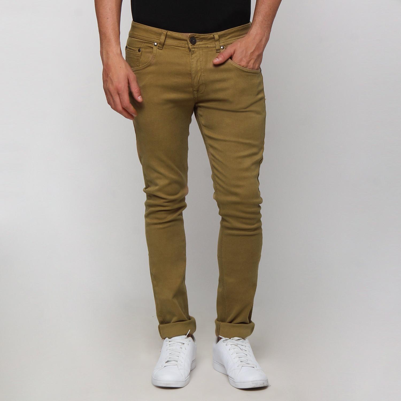 Boy London Celana Jeans Pria Original Brown Slim Fit