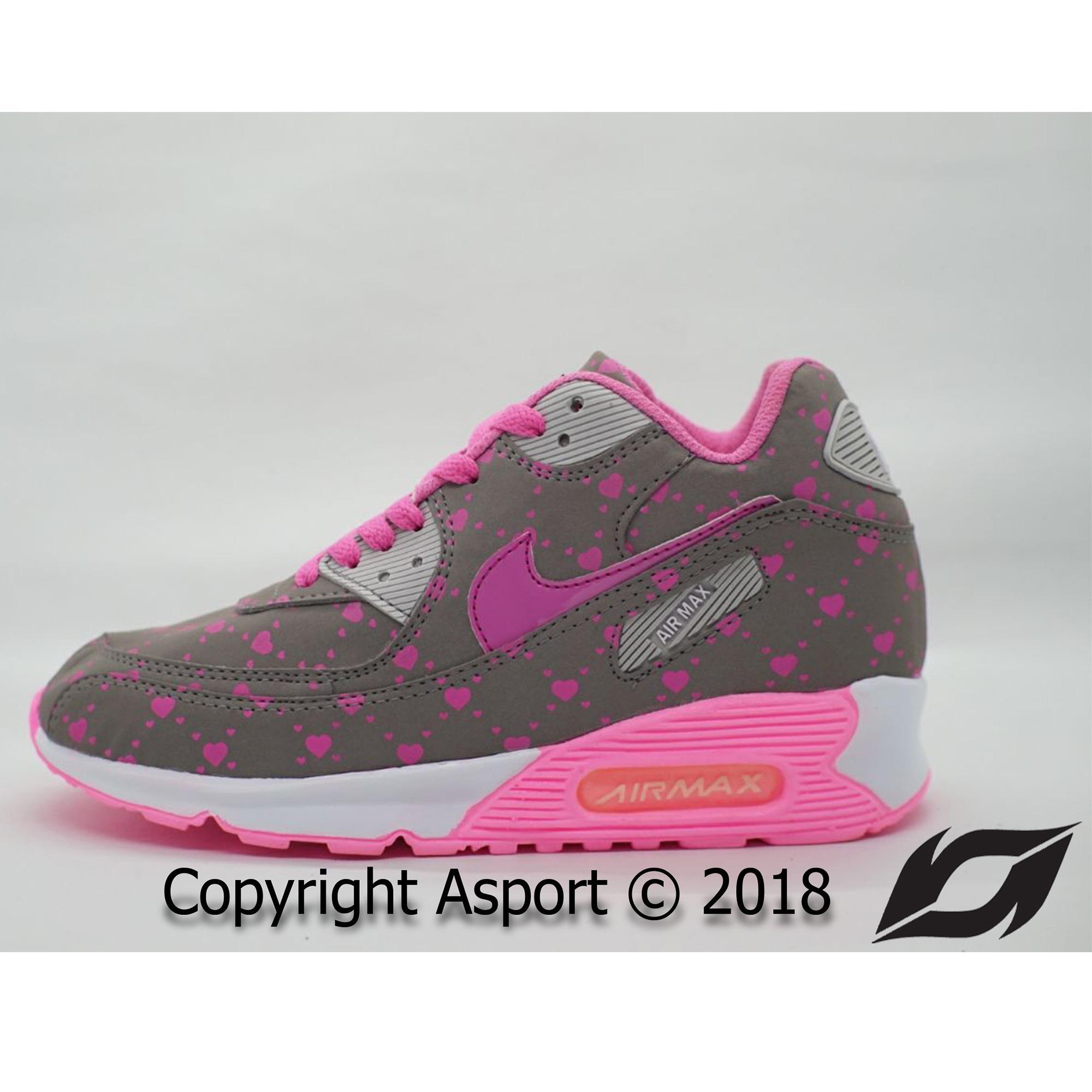 Sepatu Murah Nike Airmax 90 Kualitas Premium Warna Abu Pink Love
