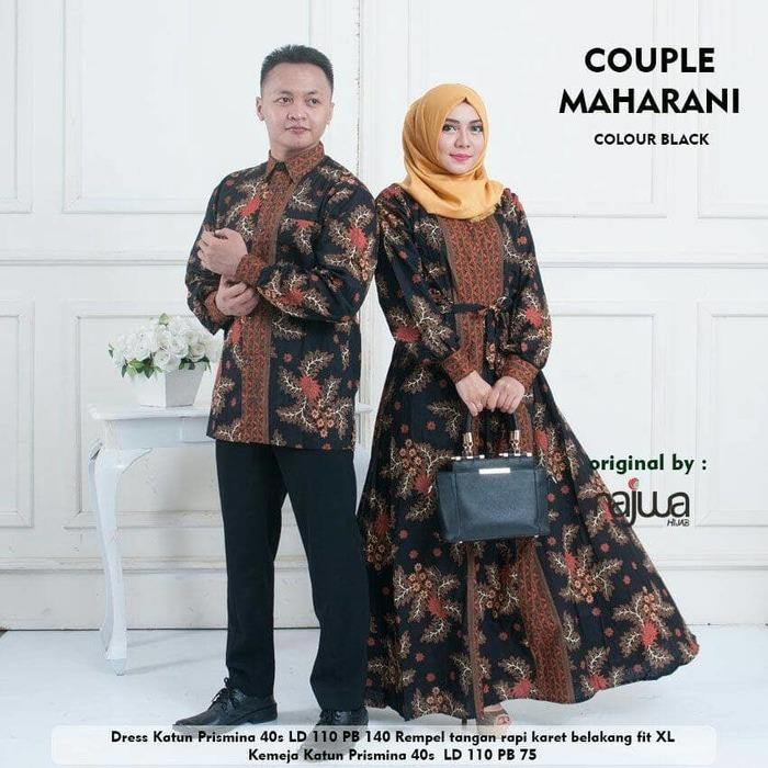 Baju Gamis Couple Maharani Ori Najwa Longdress Sarimbit