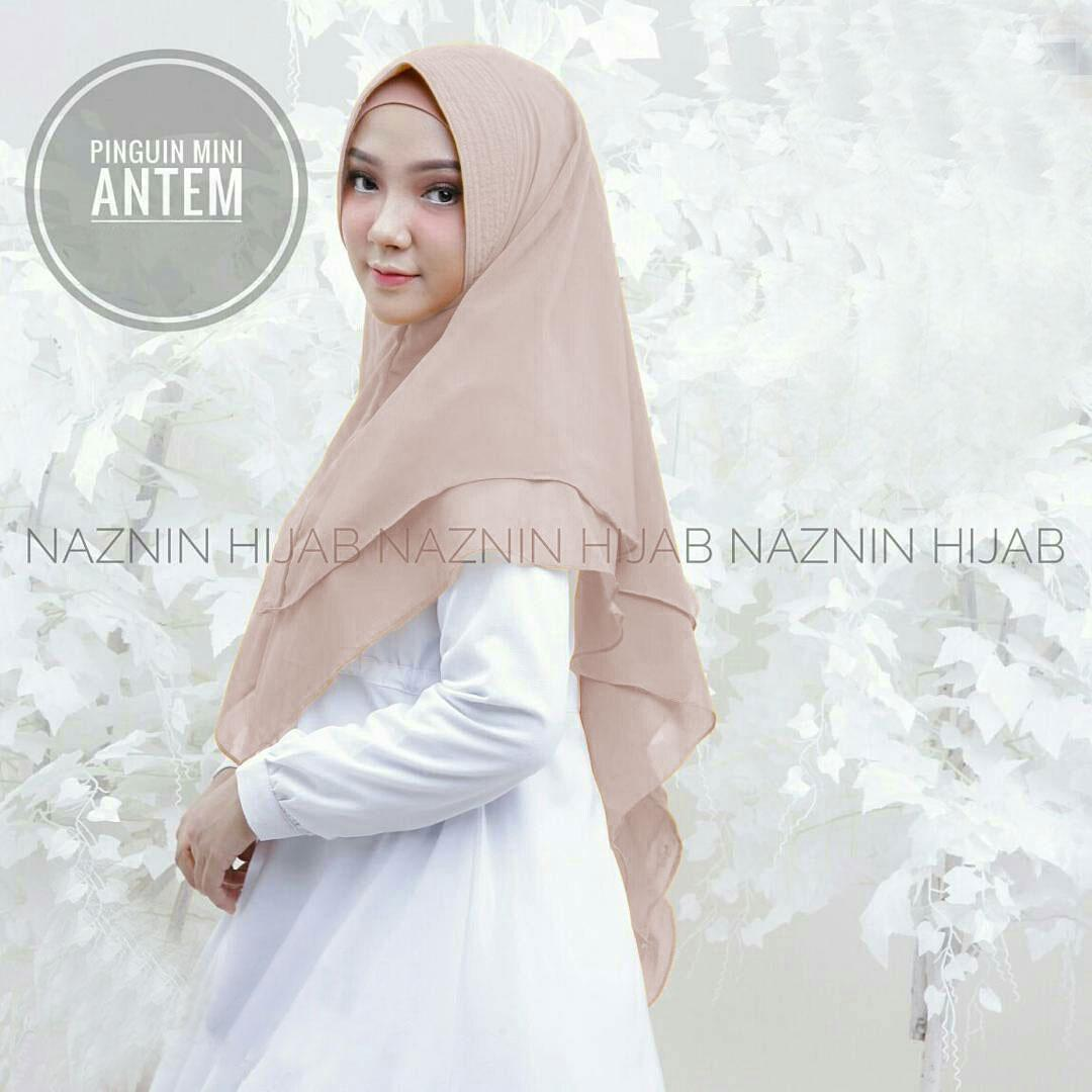 Pinguin Antem Naznin Cream / Mutiara Instan / Sabrina / Jilbab Syari / Pashmina Instan / Khimar Pet / Hijab