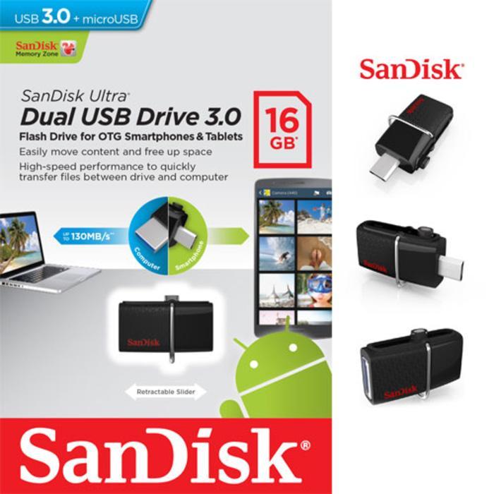 FLASHDISK SANDISK ULTRA OTG DUAL USB DRIVE 16GB
