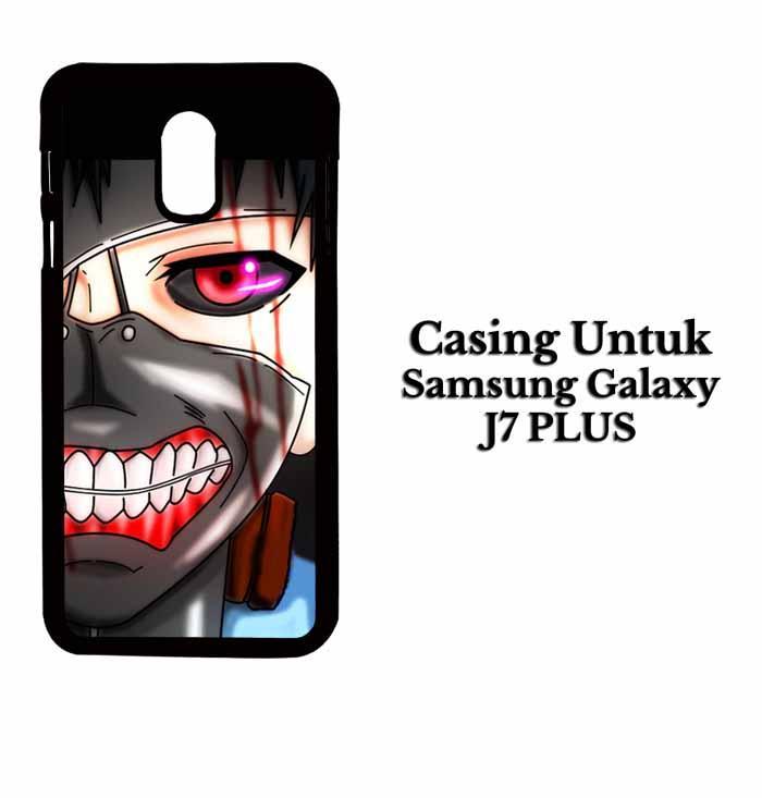 Casing SAMSUNG J7 PLUS ken kaneki mas 2 Hardcase Custom Case Se7enstores