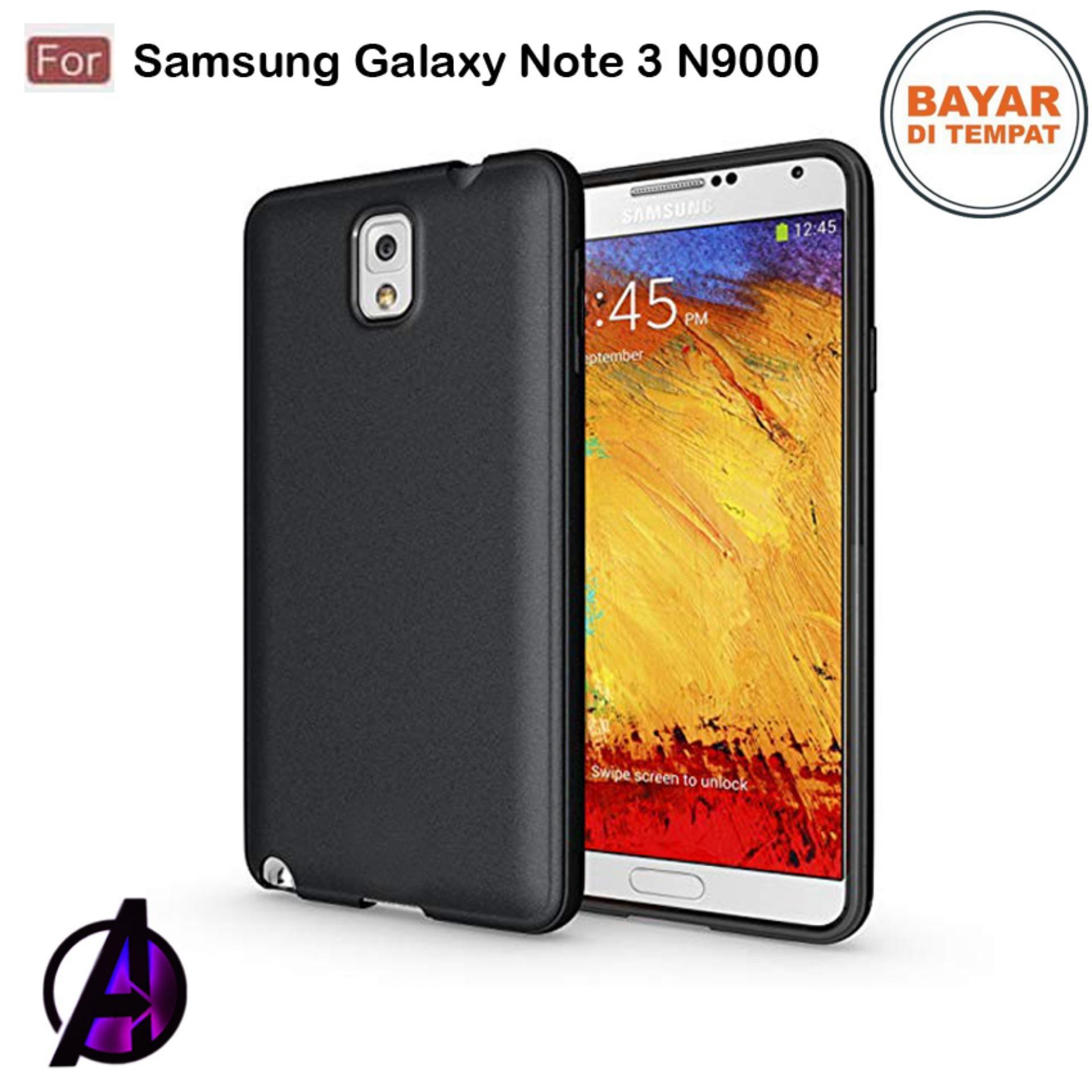 Case Matte Black Soft Slim Casing Handphone Samsung Galaxy Note 3 / N9000