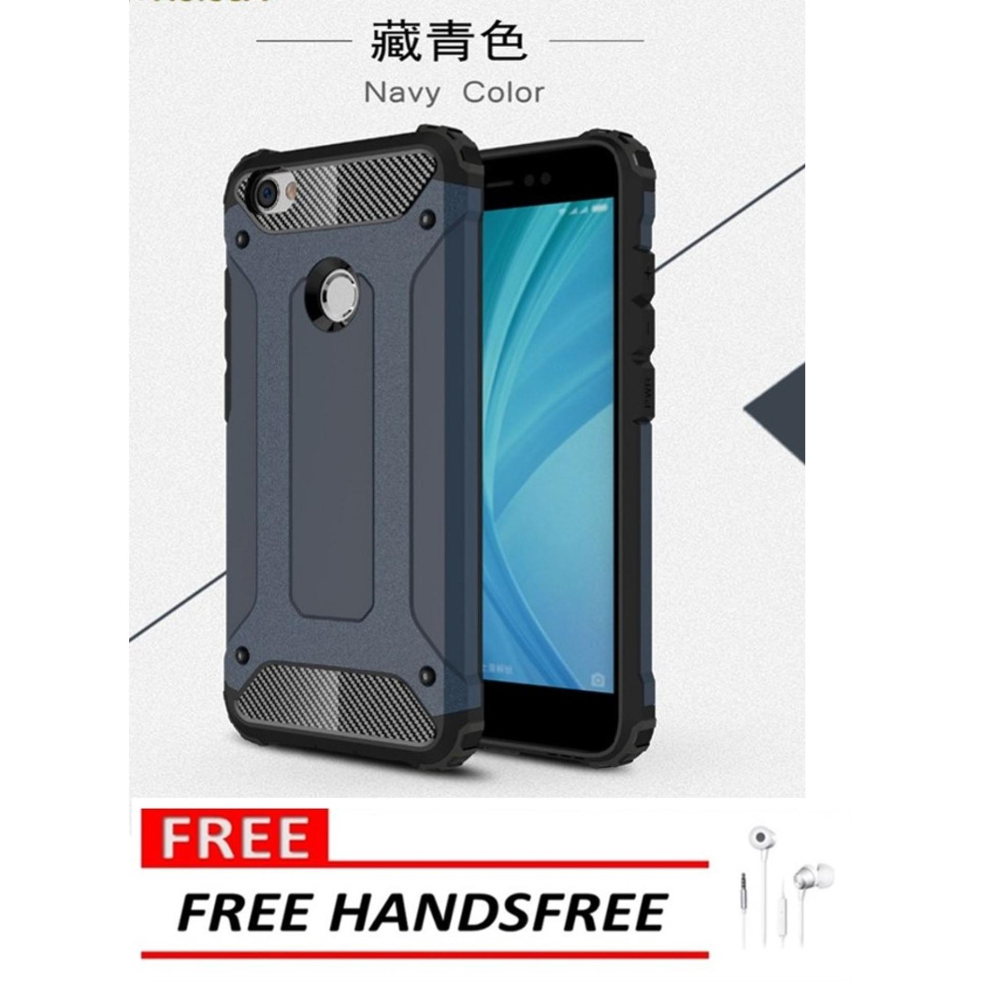Case Hard Cover Robot Shockproof Armor For Xiaomi Redmi Note 5A – Blue FREE Handsfree