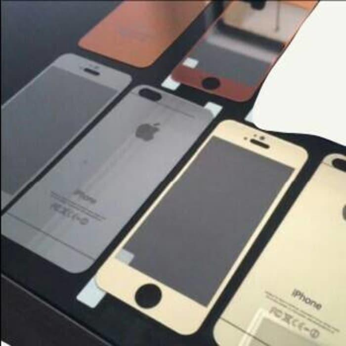 Best Seller Iphone 6+ Plus 5.5' Tempered Glass Warna Silver Gold Hitam