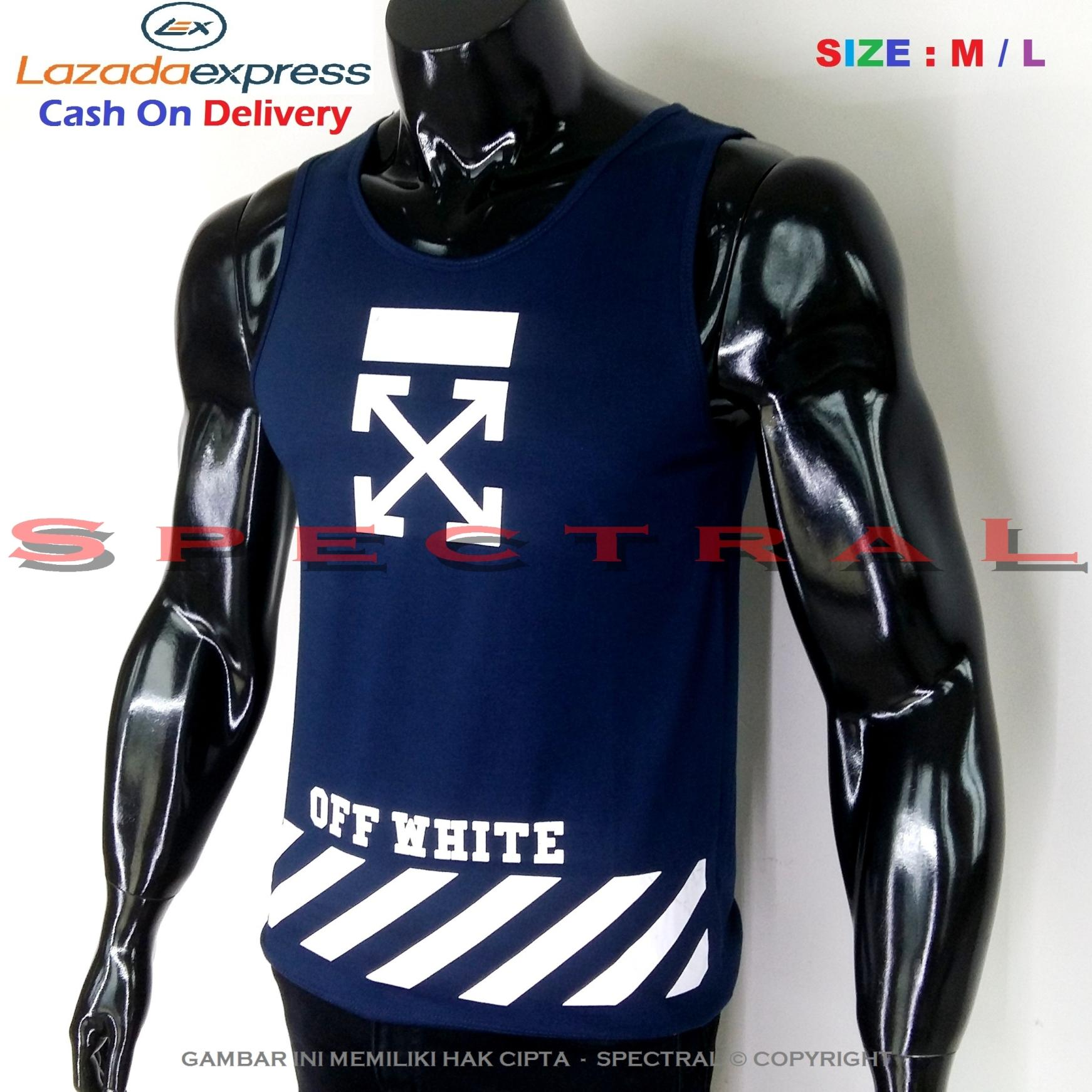 Spectral – Singlet X Off White M / L Soft Cotton Combed 30s Navy Dongker