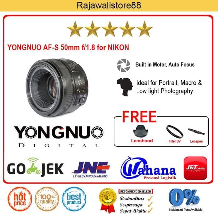 Best Buy Yongnuo Lens Af-S 50mm F/1.8 For Nikon SLR Autofocus, Free
