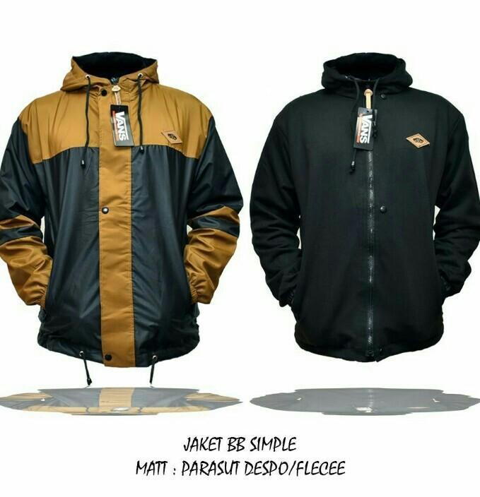 3R jaket parasit taslan bolak balik kombinasi hoody/pria/ hitam kuning