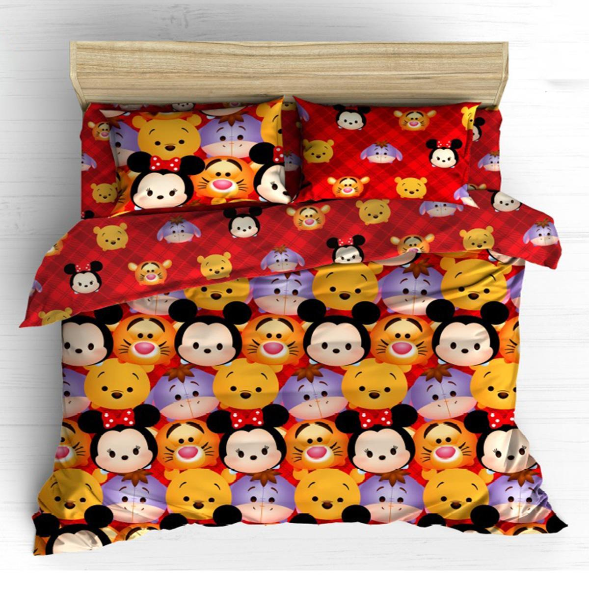Isthana Collection Sprei Kendra Disney Kids Special Edition 160x200 Tsum-Tsum 01 (Buat Kasur