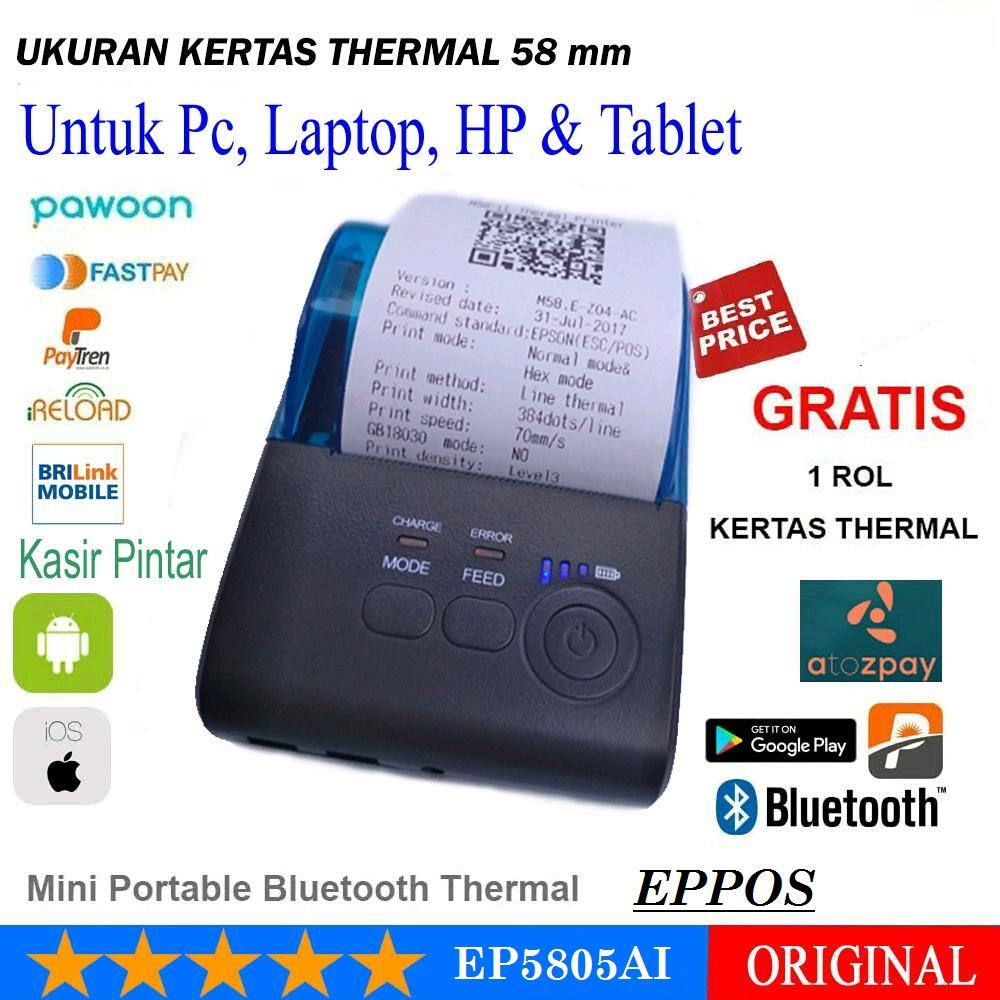 EPPOS EP5805AI Mini Printer Thermal Bluetooth 58mm - Android