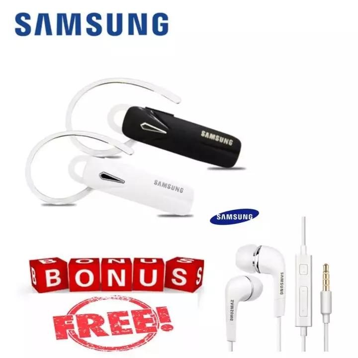Handset bluetooth Samsung Original 4.1 Earphone Build-in Mic Handfree GRATIS Samsung 3.5mm Stereo
