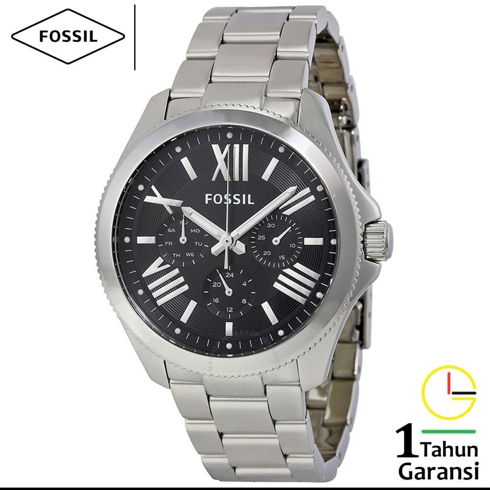 Fossil Cecile Am4628 Jam Tangan Wanita Silver Grey Rose Gold Multifunction Sand Leather Watch Am 4532 Chronograph Stainless Steel Am4534 88
