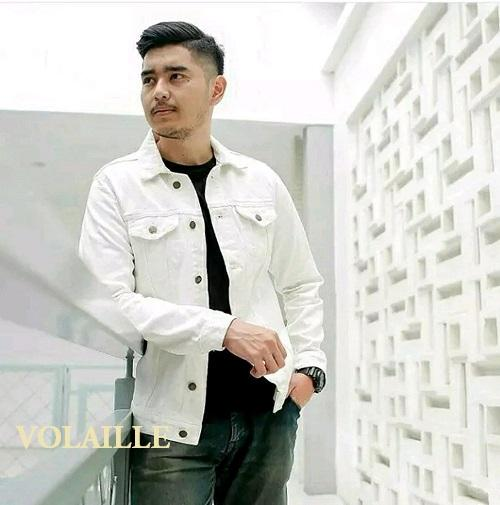 volaille - jaket jeans denim pria white (putih) - VS premium