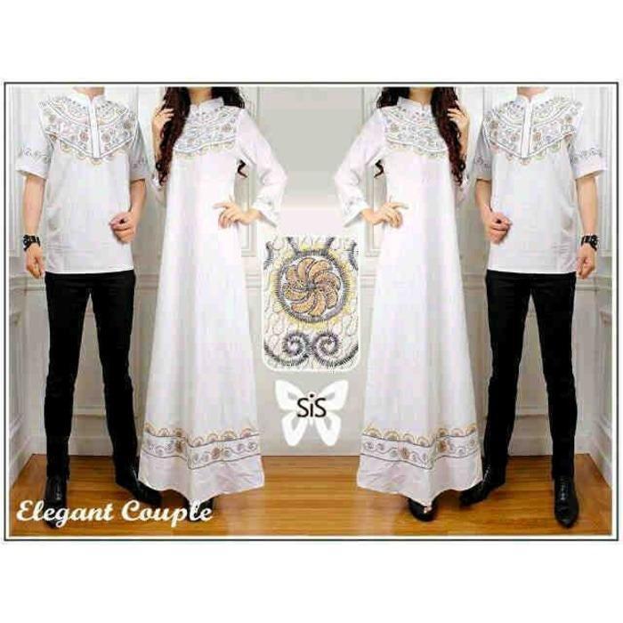 ST Elegant couple putih / couple muslim / gamis