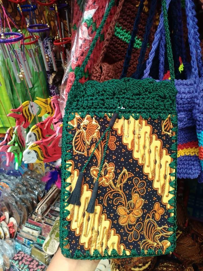 Harga Spesial!! Tas Batik Rajut Tempat Hp Dan Dompet - ready stock