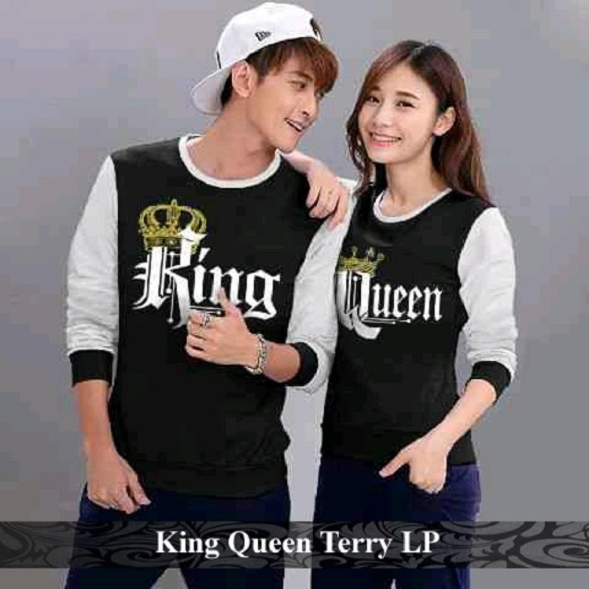 Grosir Couple Online - Kaos Pasangan Murah - Baju Couple King Queen Terry