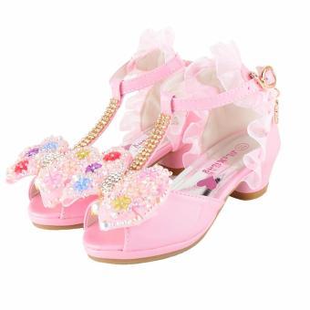 Pencarian Termurah 2018 musim panas model baru Anak prempuan Sandal Summer anak-anak Sepatu Hak