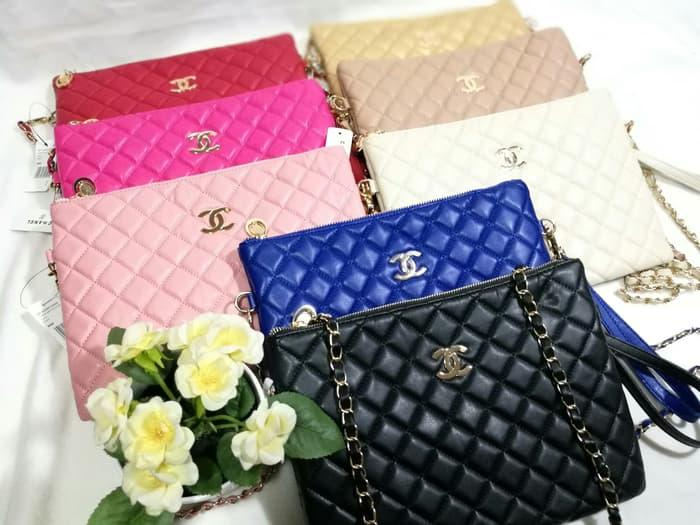 HARGA SPESIAL!!! Tas Tangan Clutch Pesta Wanita Fashion Branded Chanel dan Tali Panjang - MWSc0o